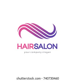 Hair salon vector logo design template