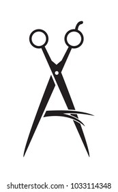 Hair scissors icon vector illustration on white background.