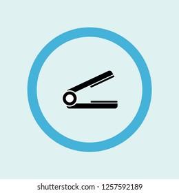 hair straightener icon symbol. Premium quality isolated hair straightener vector icon in trendy style. hair straightener element.