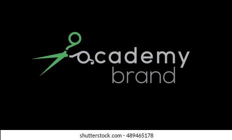 Hair stylist vector logo template