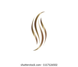 Hair symbol illustration design