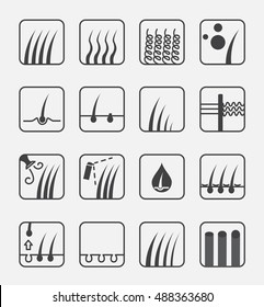 hair type icon and vector . conditioner