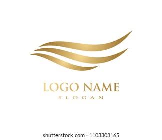 Hair wave logo ilustration vector template