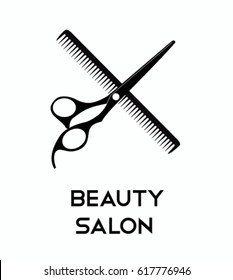 Haircut icons with scissors for you design. Vector