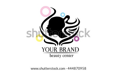 haircut vector logo template hair dresser のベクター画像素材