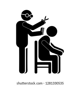 Hairdresser, barber icon