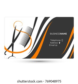 Hairdresser business card concept vector