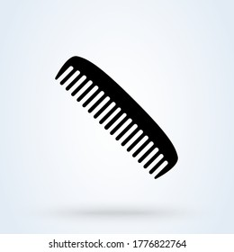 Hairdresser comb line icon. icon flat style sign for mobile concept and web design. Barber Comb vector icon. Symbol, logo illustration.