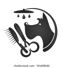 Hairdresser for dogs and cats symbol