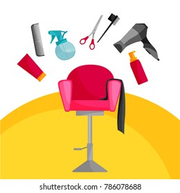 hairdressing icon design, vector illustration
