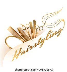 hairdressing logo design