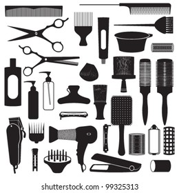 Hairdressing related symbols 1