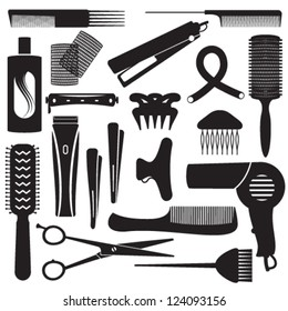 Hairdressing related symbols 3