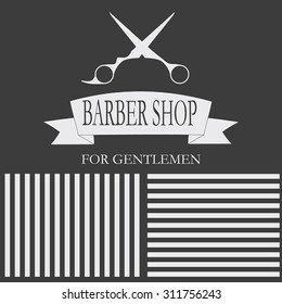 Hairdressing stylish gentlemen. card, business cards, labels