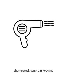 Hairdryer graphic design template vector isolated illustration