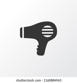 Hairdryer icon symbol. Premium quality isolated blowdryer element in trendy style.
