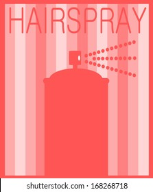 hairspray graphic design with aerosol can