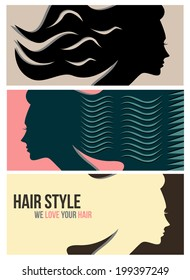 Hairstyle horizontal banners