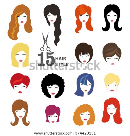 Hairstyle Silhouette Womangirlfemale Hairface Beauty