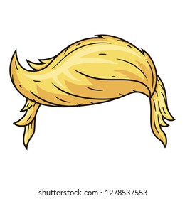 Hairstyle in the style of Donald Trump