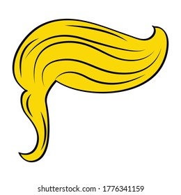 Hairstyle in the style of Trump, Stylish hairstyle men blonde like Trump. Vector