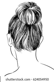 hairstyles back view women with bun