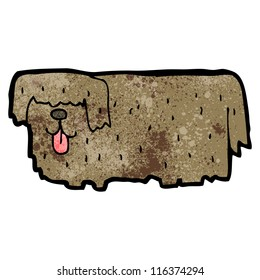 hairy dog cartoon