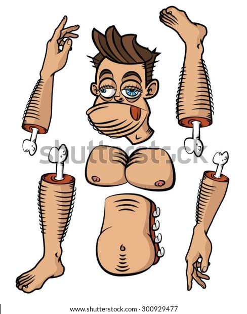 Hairy Human Body Partsbody Parts Stock Vector Royalty Free 300929477