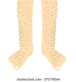 Hairy legs.Vector Illustration.