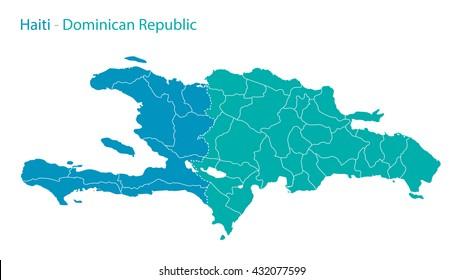 Haiti - Dominican Republic map