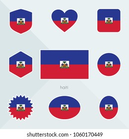 Haiti flag. National flag of Haiti. Haiti vector flag button. Haiti independence day.