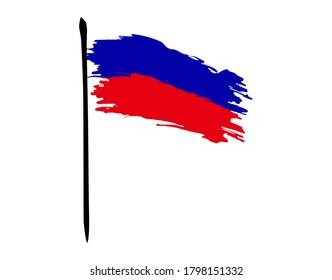 Haiti flag on white background in vector illustration
