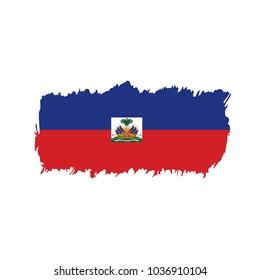 Haiti flag, vector illustration