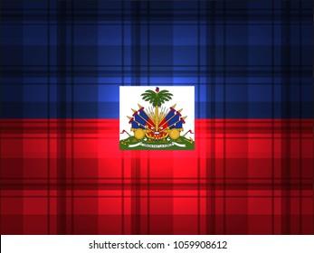 Haiti Flag vector illustration. Haiti  Flag. National Flag of Hait