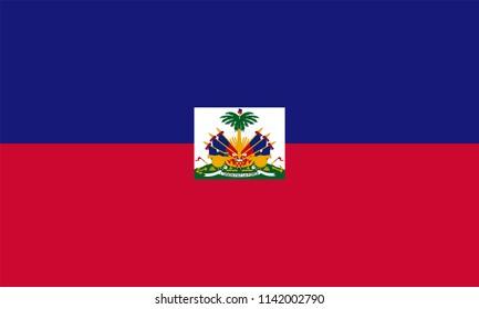 Haiti Haitian Country Flag Illustration Design