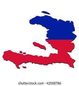 Haiti map flag