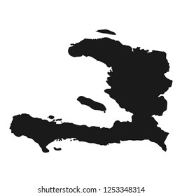 haiti map vector. illustration isolated country background