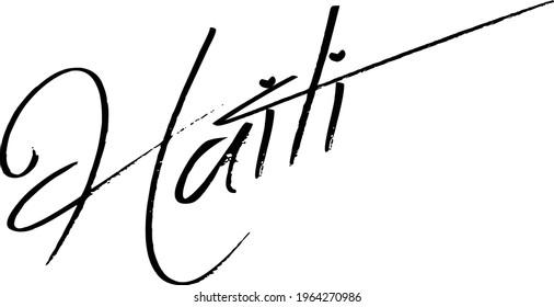 haiti text sign illustration on white background