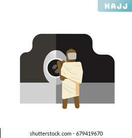 Hajj icon collection set. Vector illustration
