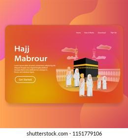 Hajj Mabrour Landing Page Web Template UI Design