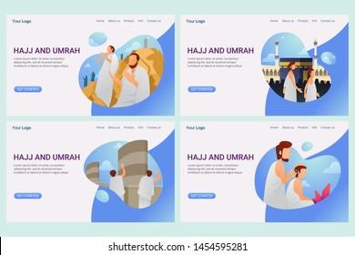 Hajj and umrah landing page template
