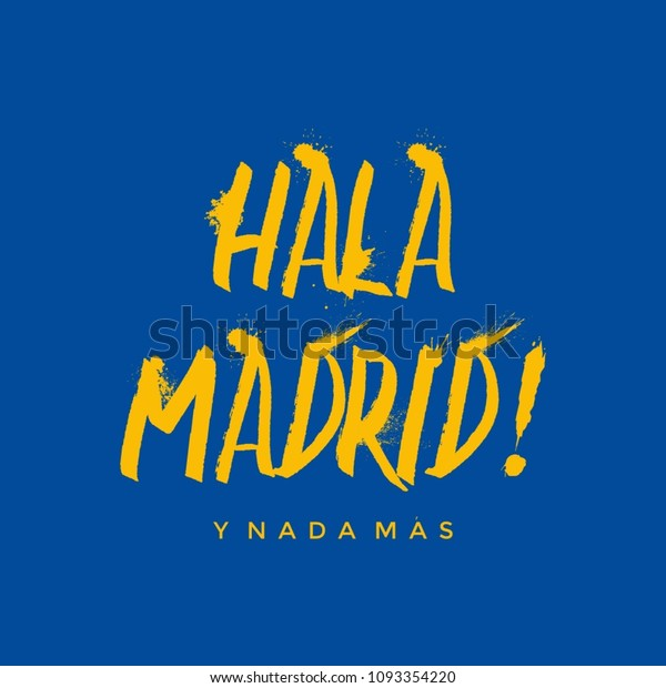 Vector De Stock Libre De Regalías Sobre Hala Madrid Grunge