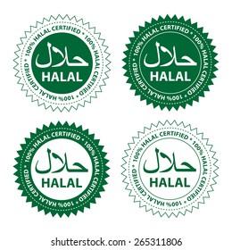 Halal food product label.