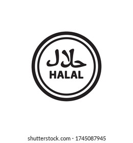Halal Icon In Trendy Design Vector Eps 10