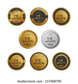 halal label set