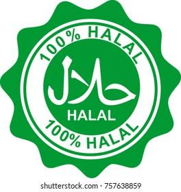 halal, label, vector