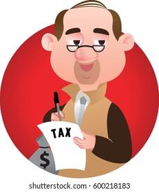 half body tax collector guy