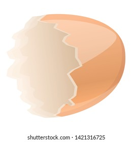 Half empty eggshell icon. Cartoon of half empty eggshell vector icon for web design isolated on white background