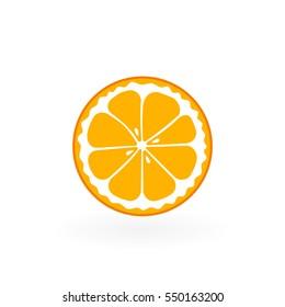 Half of fruit. Orange.