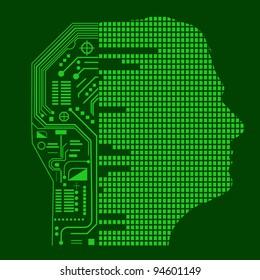 Half man and half robot profile